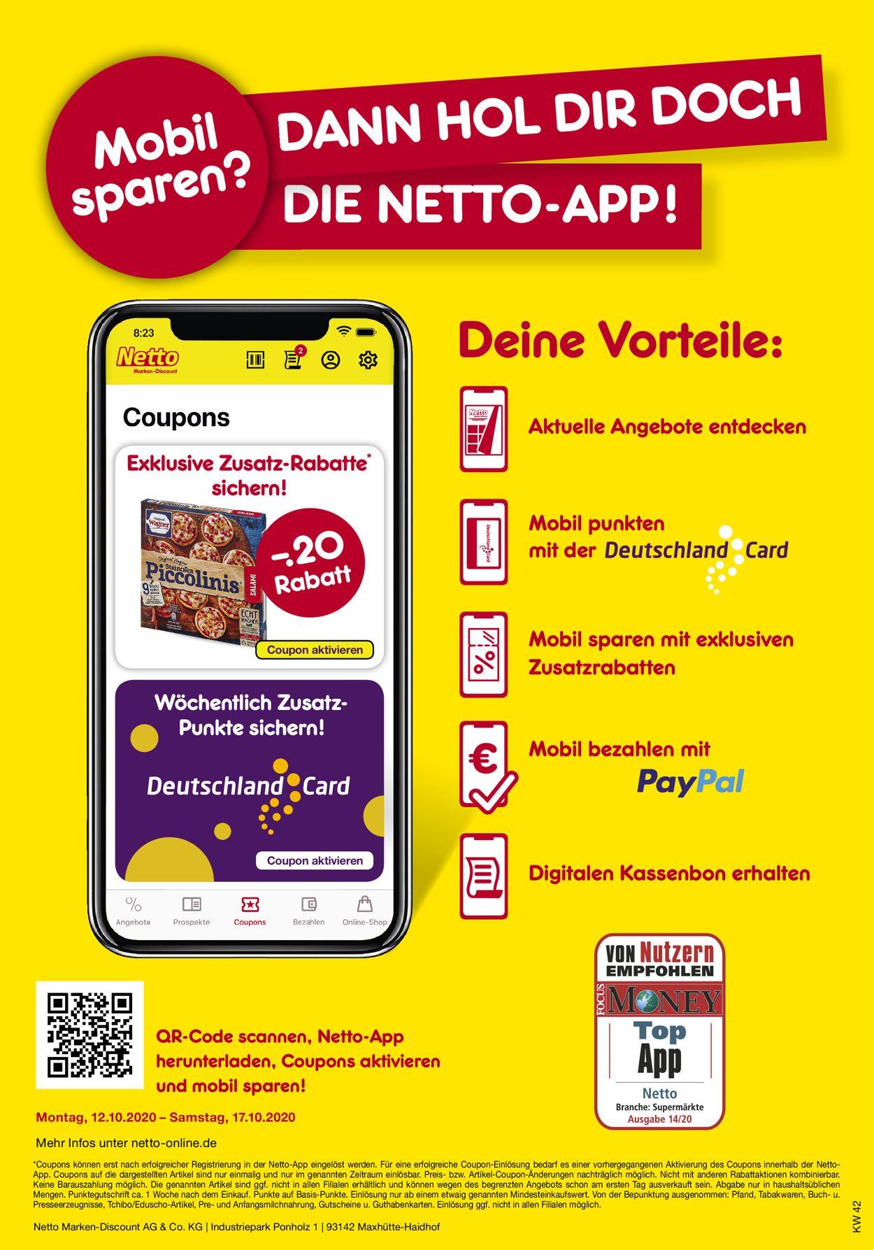 Netto Marken-Discount Prospekt - Aktuell vom 12.10-17.10.2020 (Seite 37)