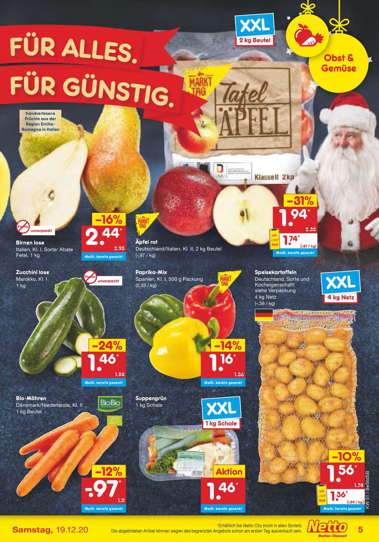 Netto Marken-Discount Weihnachtsprospekt 2020 Prospekt - Aktuell vom 14.12-19.12.2020 (Seite 5)