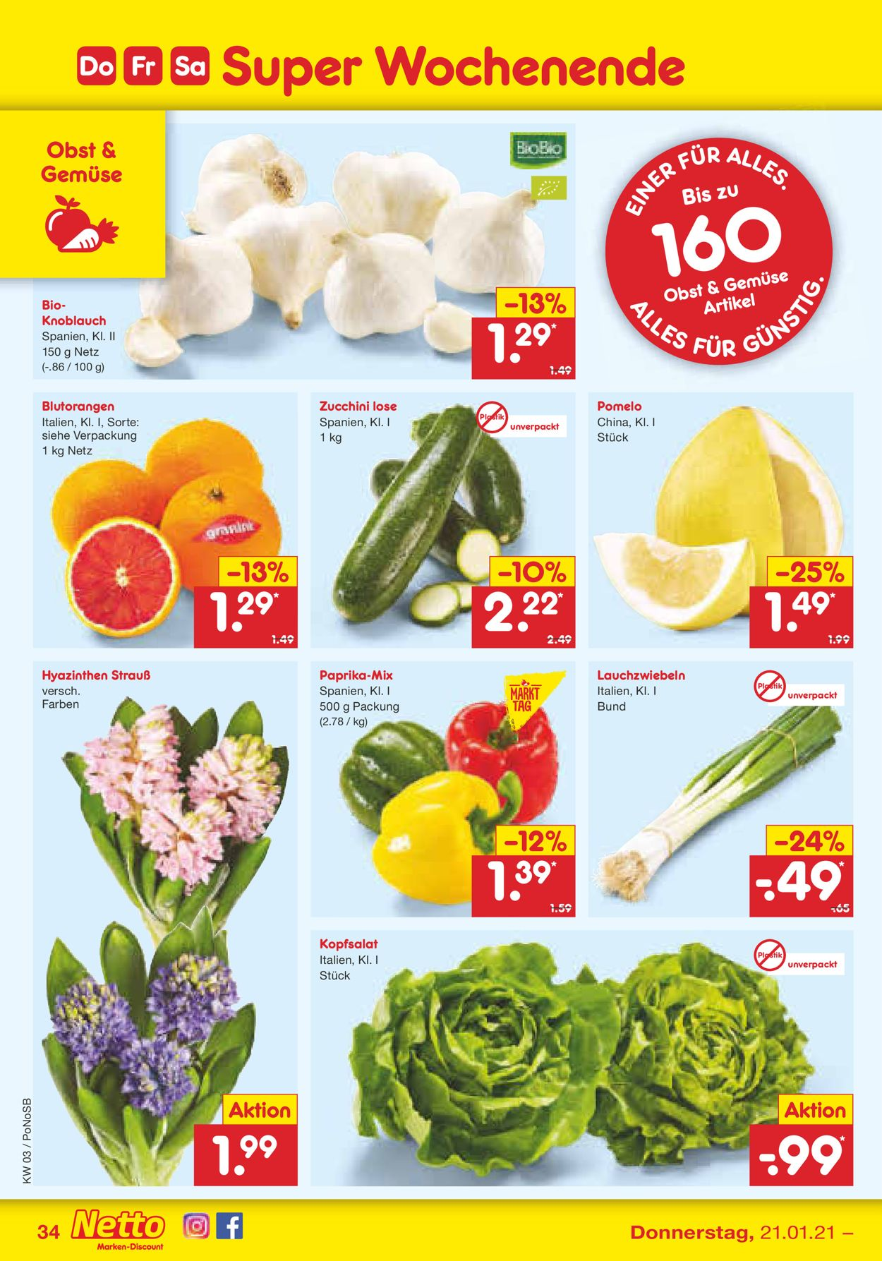 Netto Marken-Discount Prospekt - Aktuell vom 18.01-23.01.2021 (Seite 34)