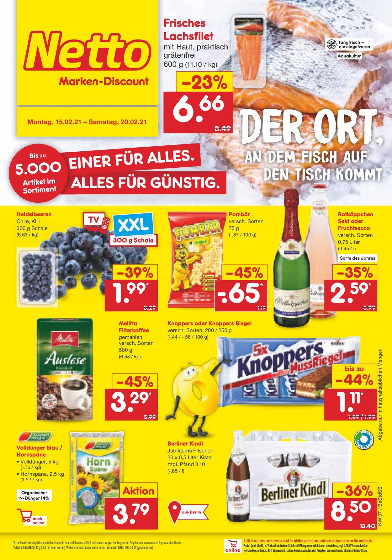 Netto Marken-Discount Prospekt - Aktuell vom 15.02-20.02.2021