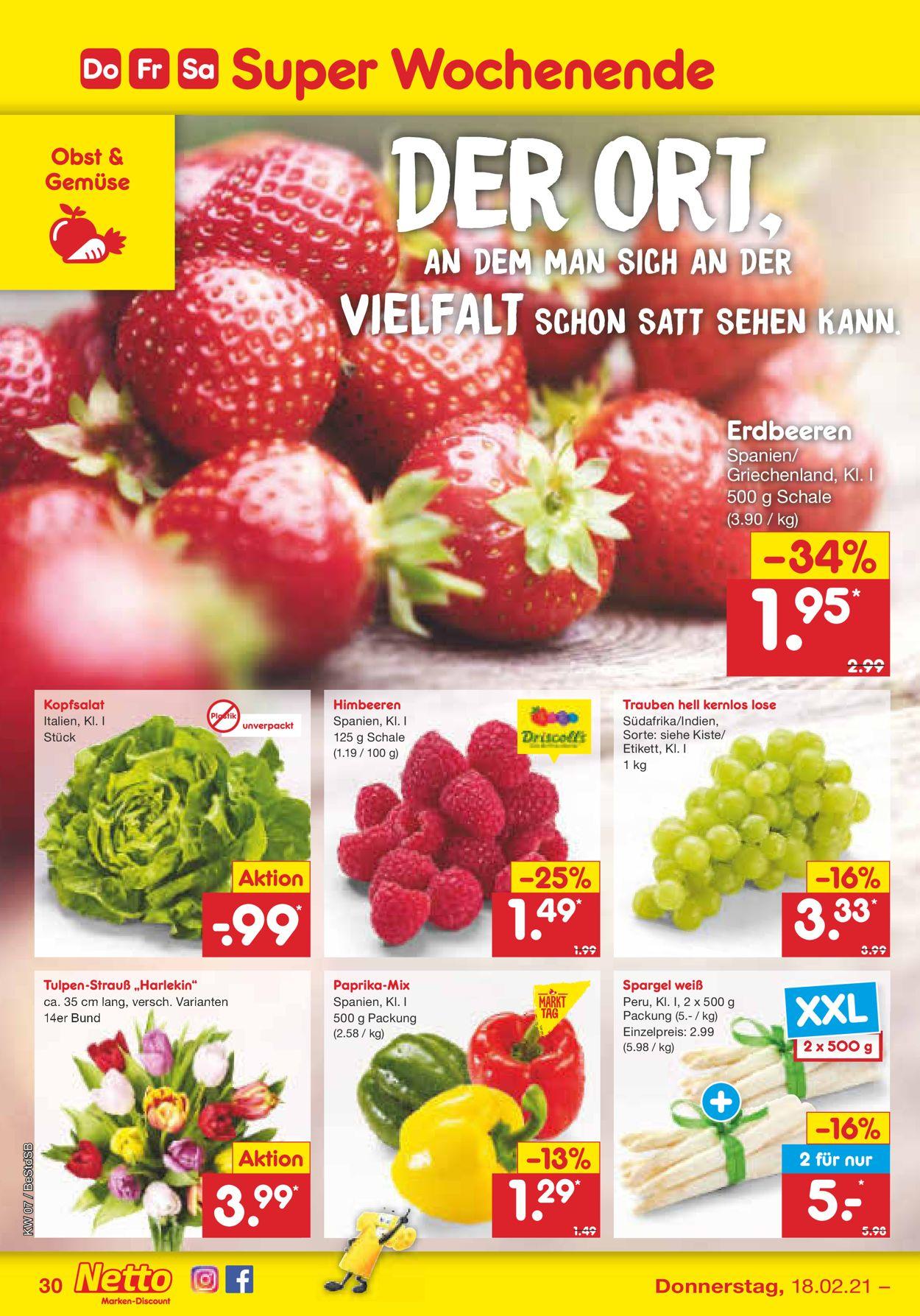 Netto Marken-Discount Prospekt - Aktuell vom 15.02-20.02.2021 (Seite 30)