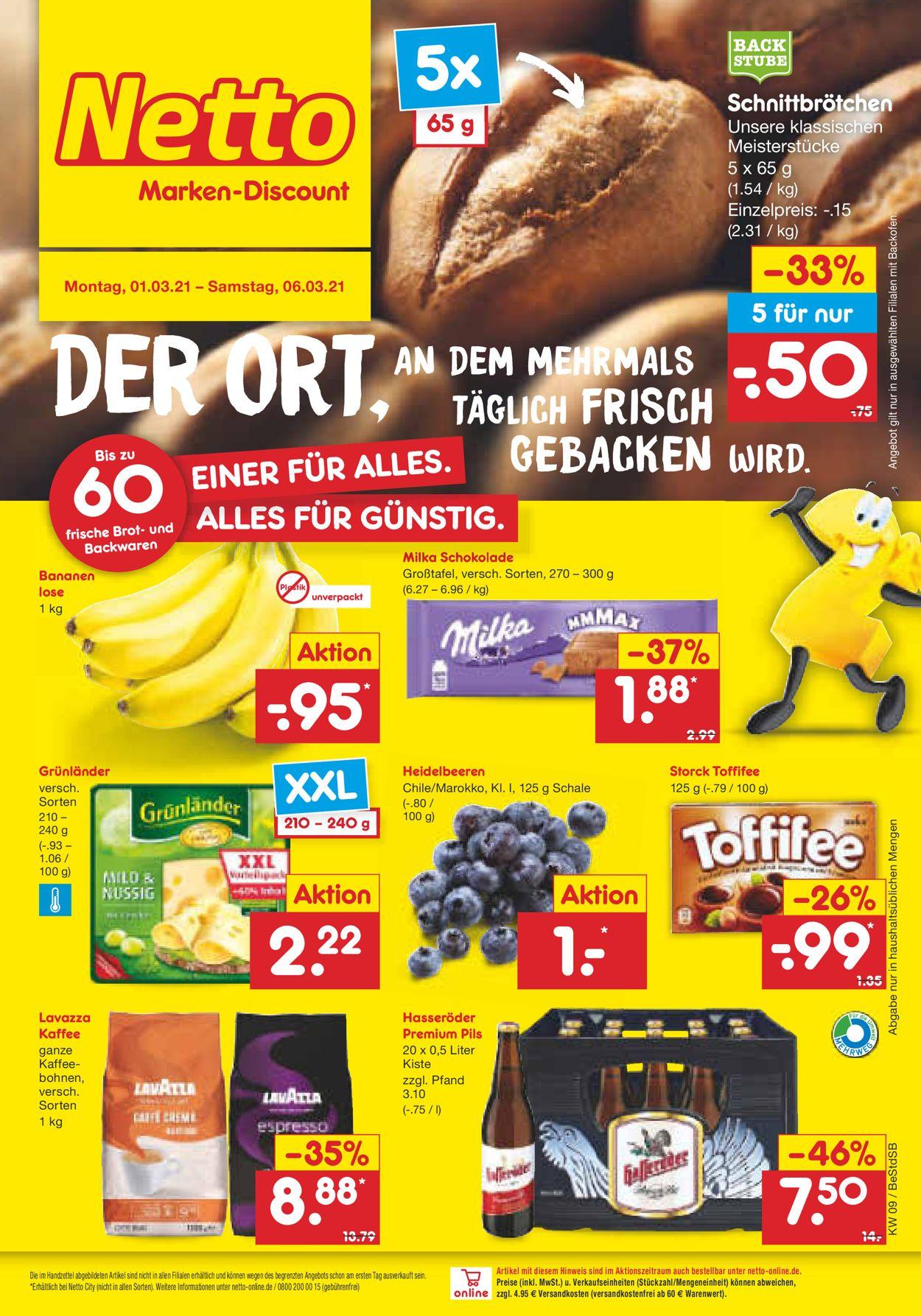 Netto Marken-Discount Prospekt - Aktuell vom 01.03-06.03.2021