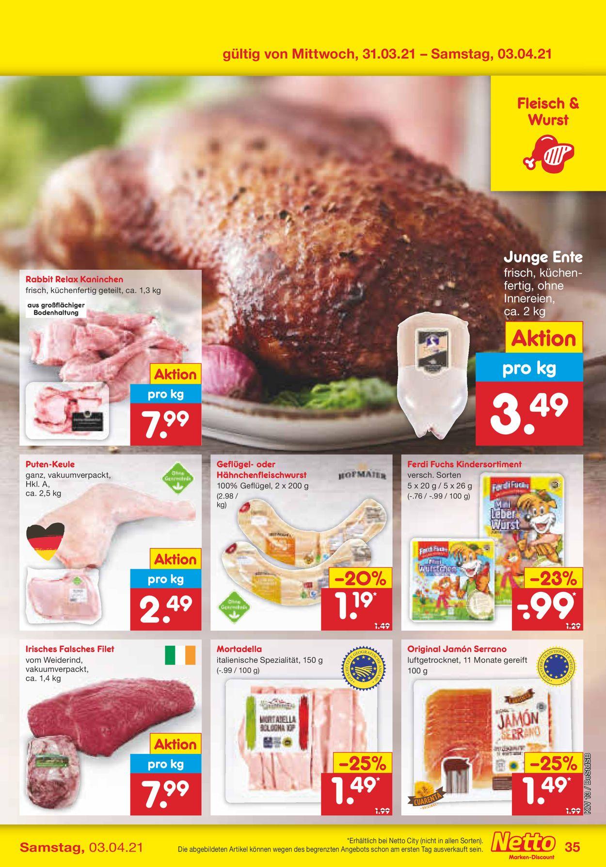 Netto Marken-Discount Ostern 2021 Prospekt - Aktuell vom 29.03-03.04.2021 (Seite 35)