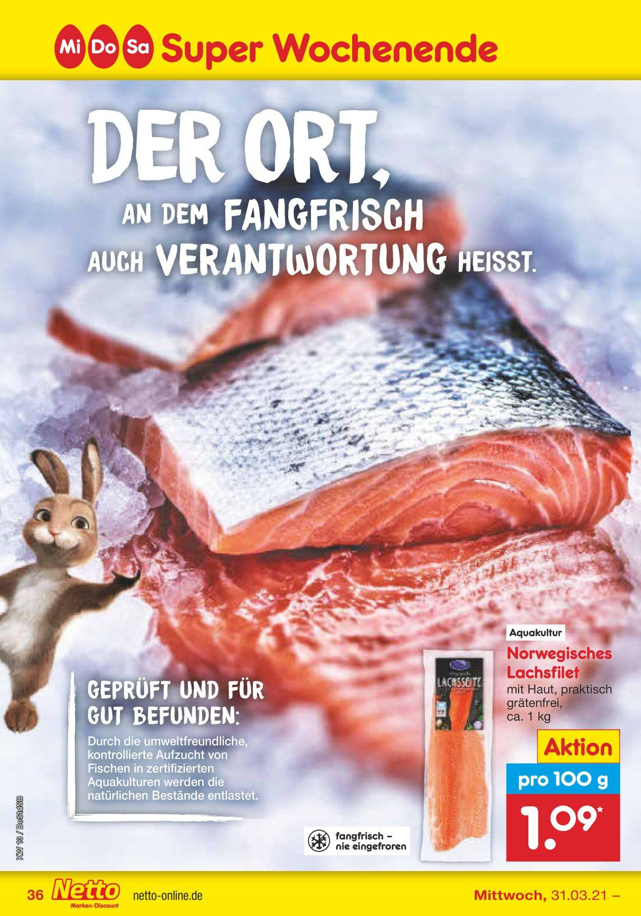 Netto Marken-Discount Ostern 2021 Prospekt - Aktuell vom 29.03-03.04.2021 (Seite 36)