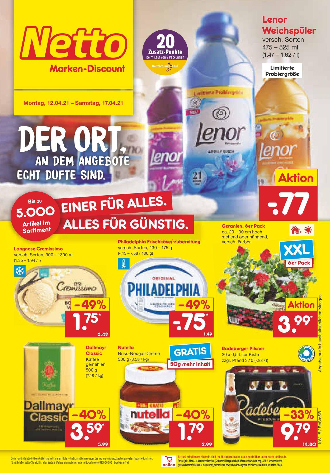 Netto Marken-Discount Prospekt - Aktuell vom 12.04-17.04.2021