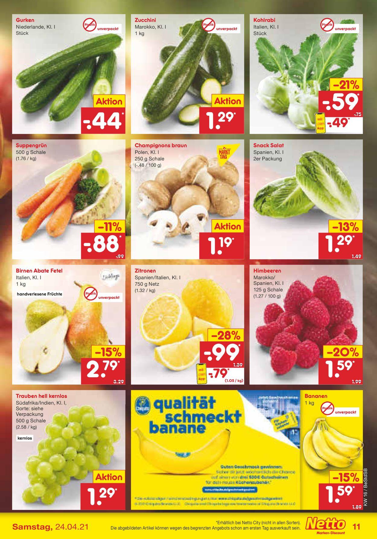 Netto Marken-Discount Prospekt - Aktuell vom 19.04-24.04.2021 (Seite 11)