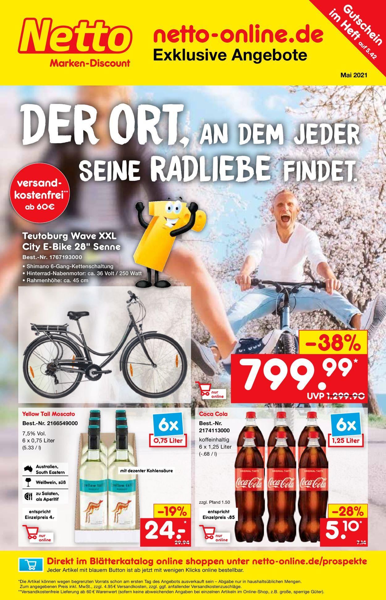 Netto Marken-Discount Prospekt - Aktuell vom 29.04-31.05.2021