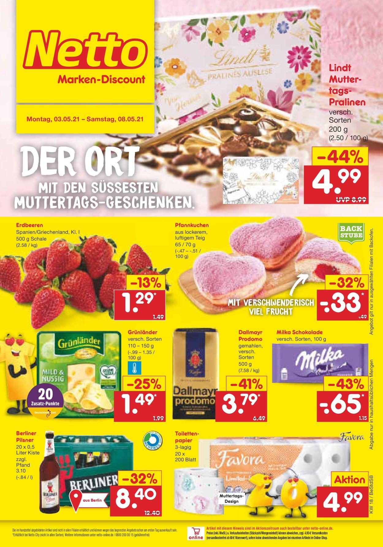 Netto Marken-Discount Prospekt - Aktuell vom 03.05-08.05.2021