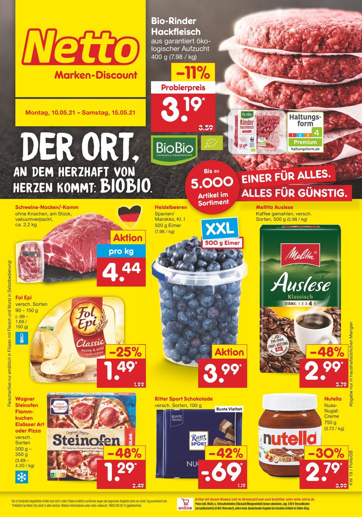 Netto Marken-Discount Prospekt - Aktuell vom 10.05-15.05.2021