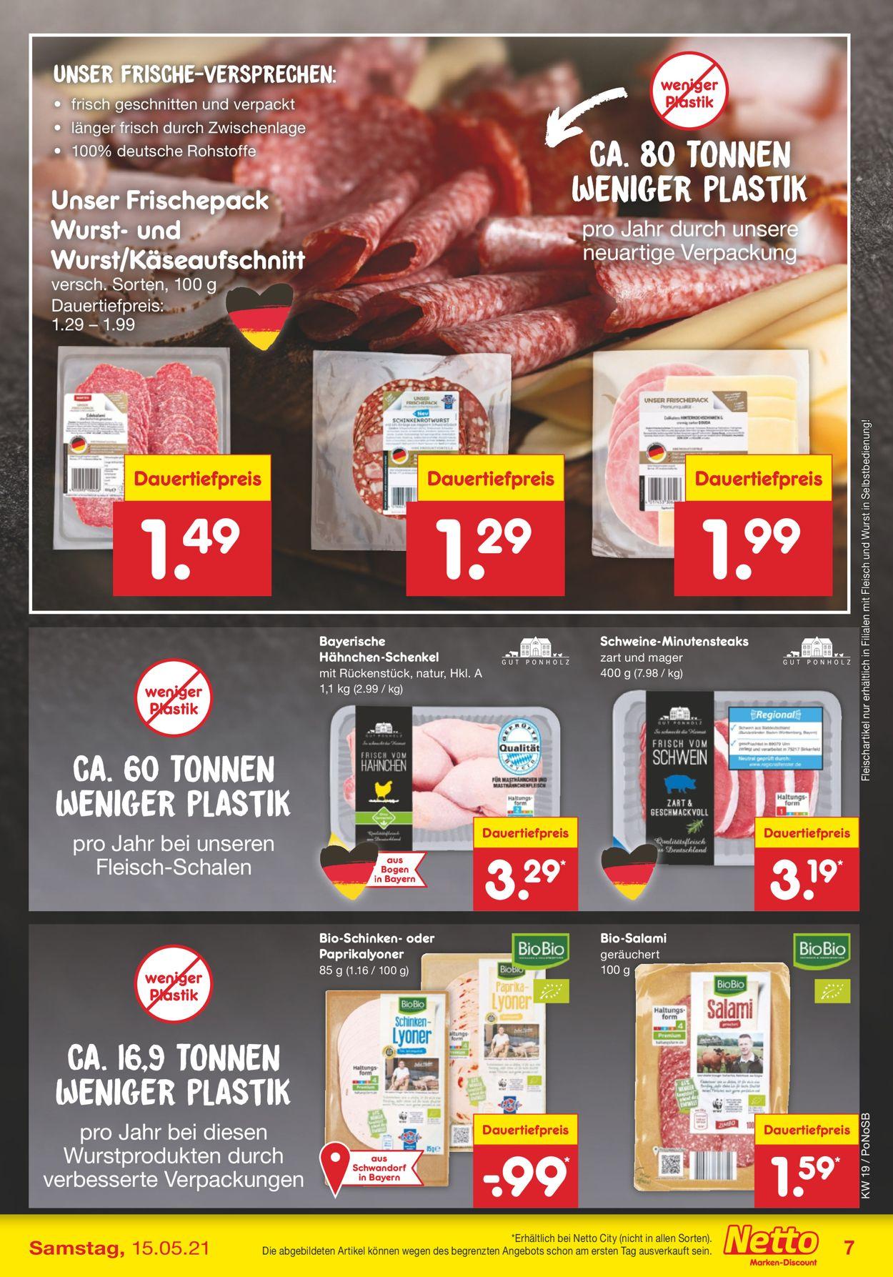 Netto Marken-Discount Prospekt - Aktuell vom 10.05-15.05.2021 (Seite 7)