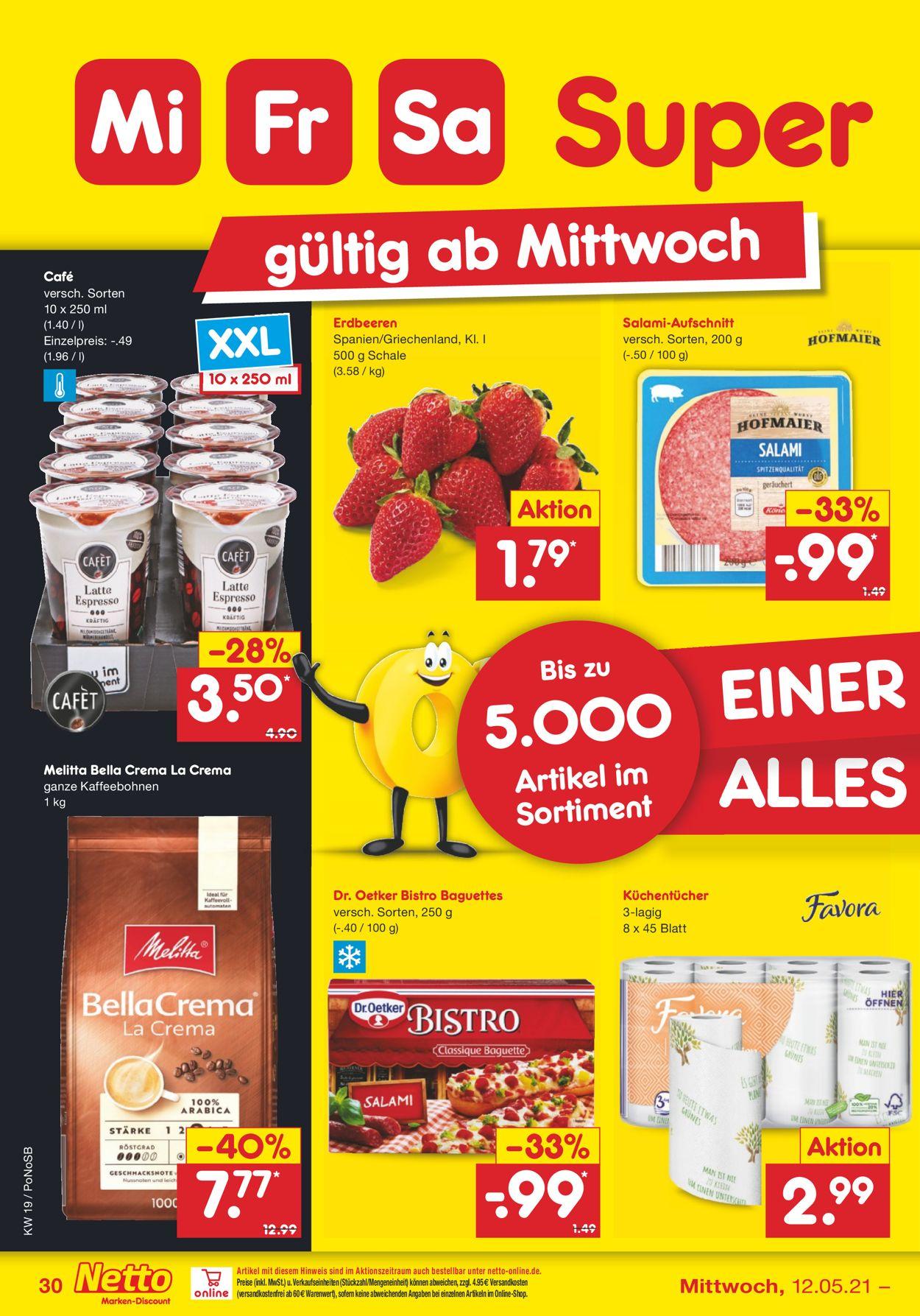 Netto Marken-Discount Prospekt - Aktuell vom 10.05-15.05.2021 (Seite 30)
