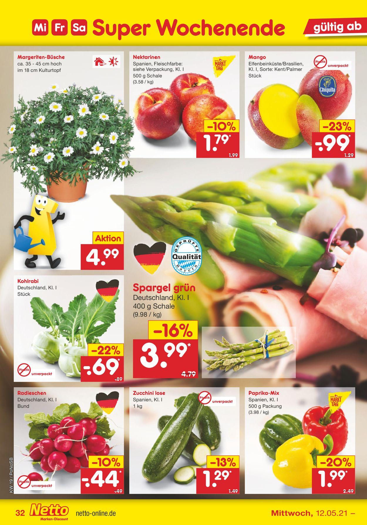 Netto Marken-Discount Prospekt - Aktuell vom 10.05-15.05.2021 (Seite 32)