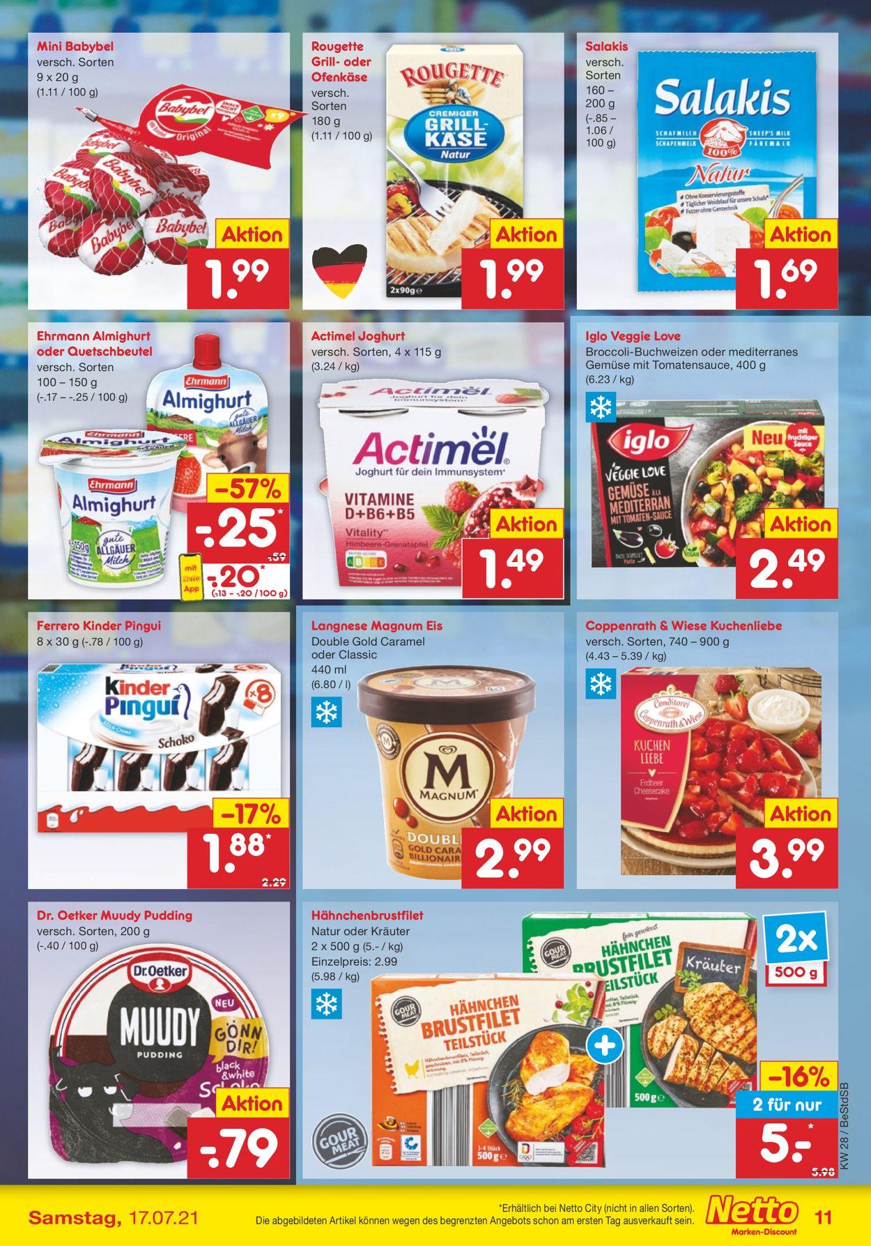 Netto Marken-Discount Prospekt - Aktuell vom 12.07-17.07.2021 (Seite 11)