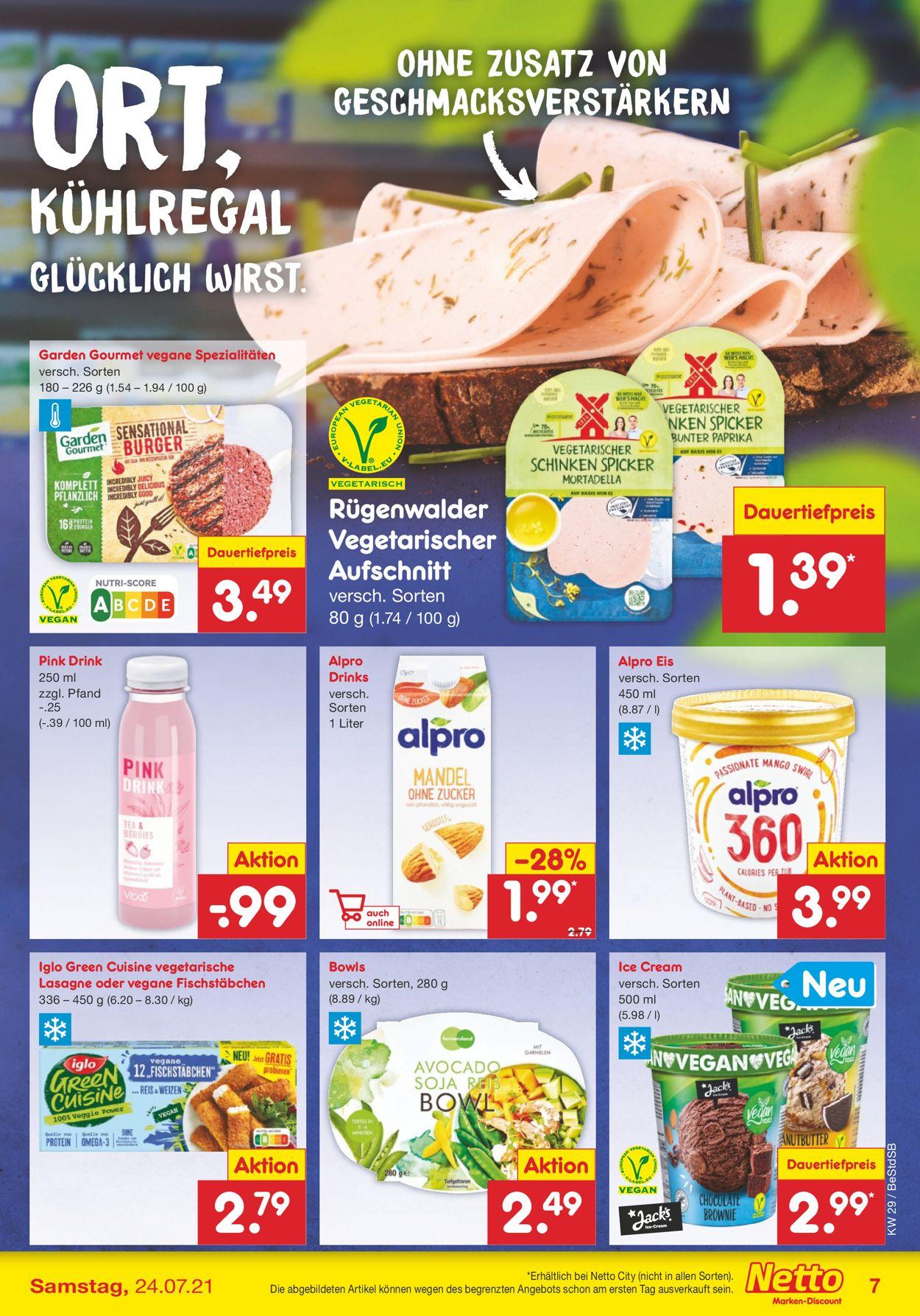 Netto Marken-Discount Prospekt - Aktuell vom 19.07-24.07.2021 (Seite 7)