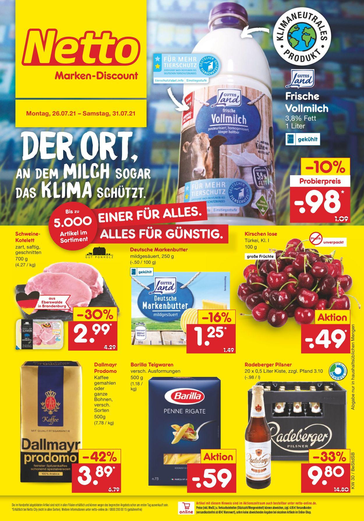 Netto Marken-Discount Prospekt - Aktuell vom 26.07-31.07.2021