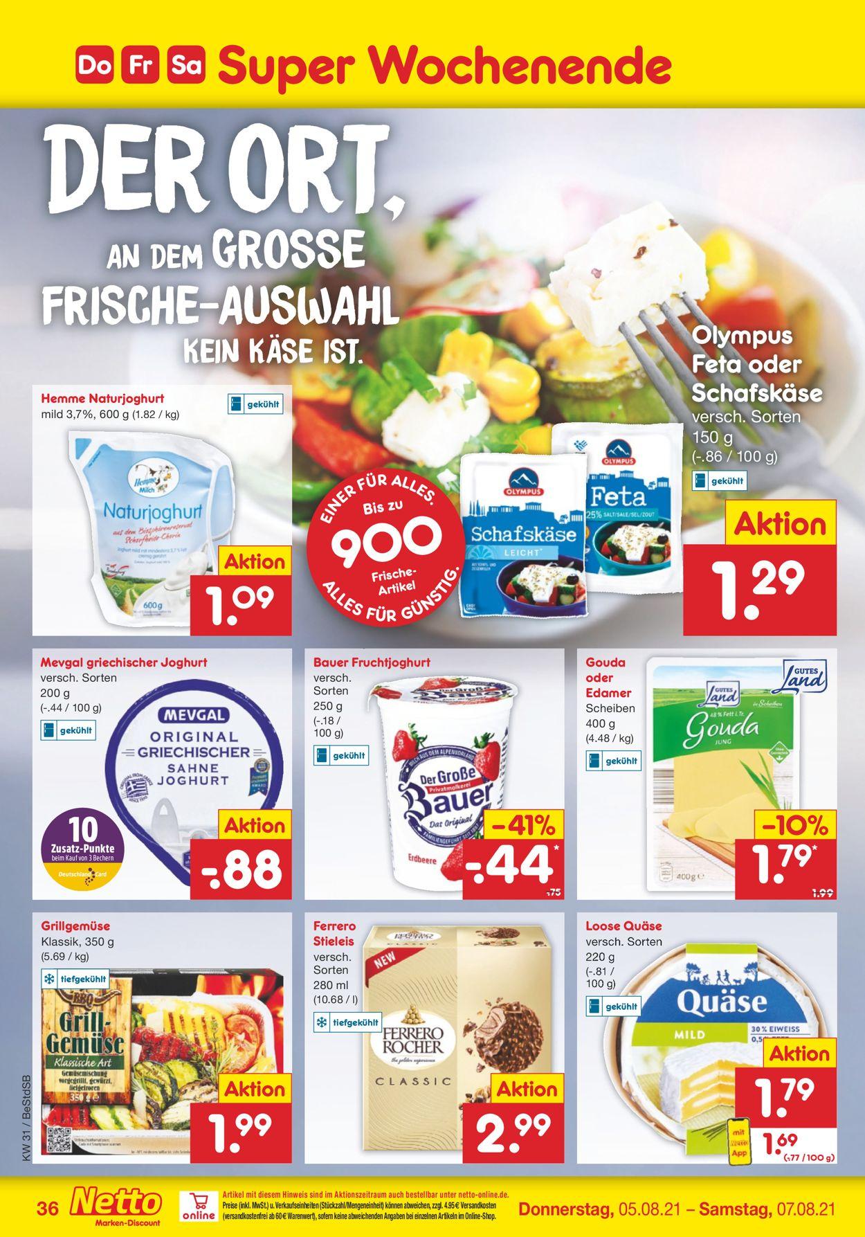 Netto Marken-Discount Prospekt - Aktuell vom 02.08-07.08.2021 (Seite 36)