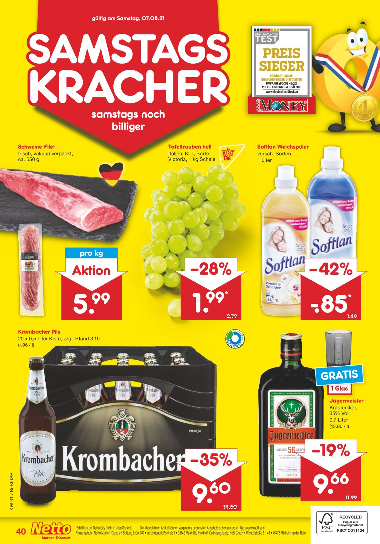 Netto Marken-Discount Prospekt - Aktuell vom 02.08-07.08.2021 (Seite 40)