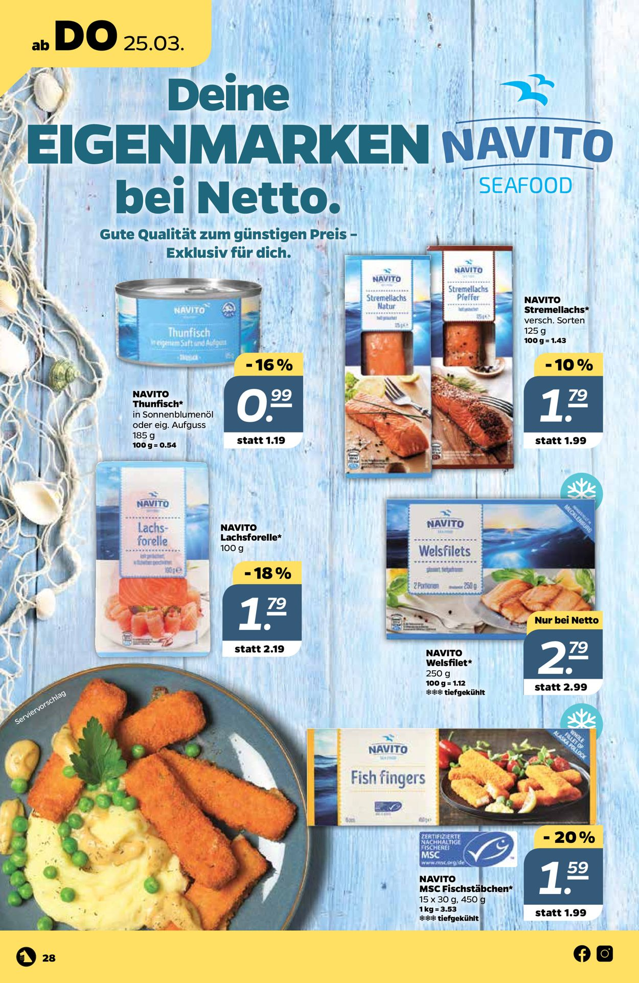 Netto Prospekt - Aktuell vom 22.03-27.03.2021 (Seite 28)