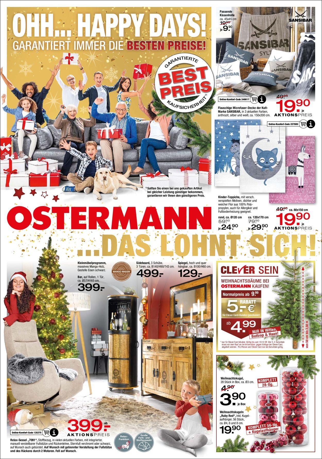 Ostermann Weihnachtsprospekt 2020 Prospekt - Aktuell vom 02.12-23.12.2020