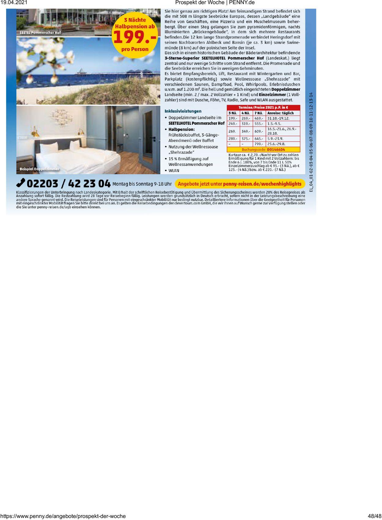 Penny Prospekt - Aktuell vom 19.04-24.04.2021 (Seite 48)