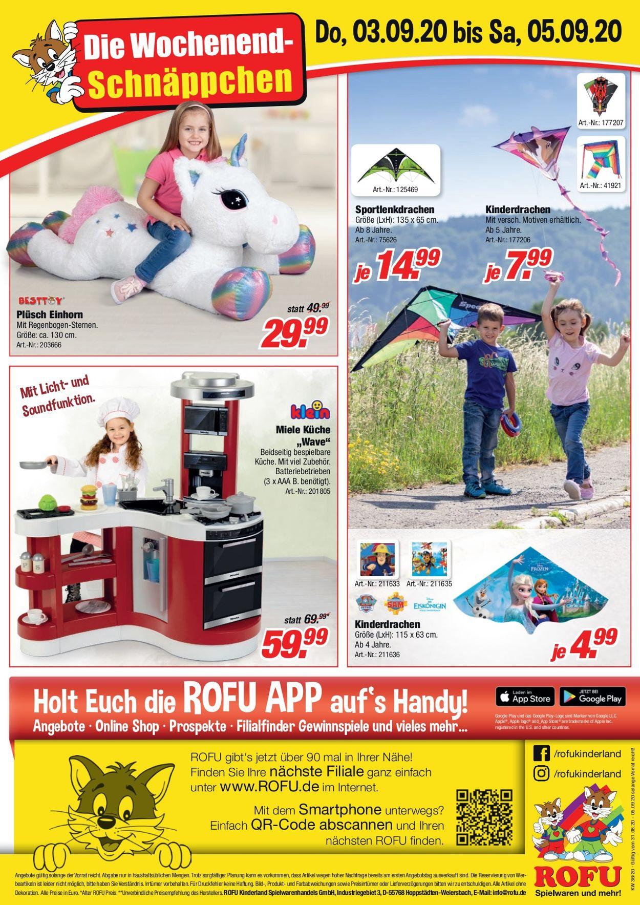 ROFU Kinderland Prospekt - Aktuell vom 31.08-05.09.2020 (Seite 8)