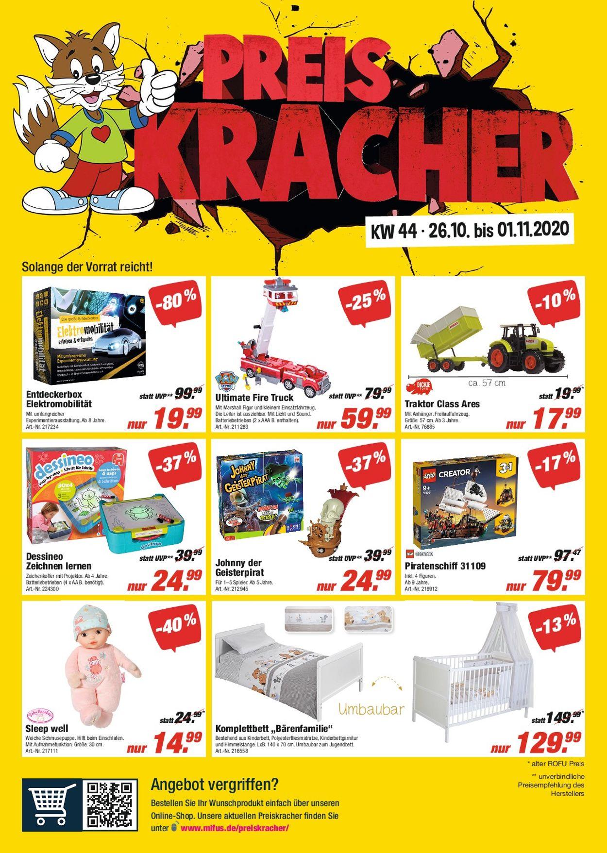 ROFU Kinderland Prospekt - Aktuell vom 26.10-01.11.2020