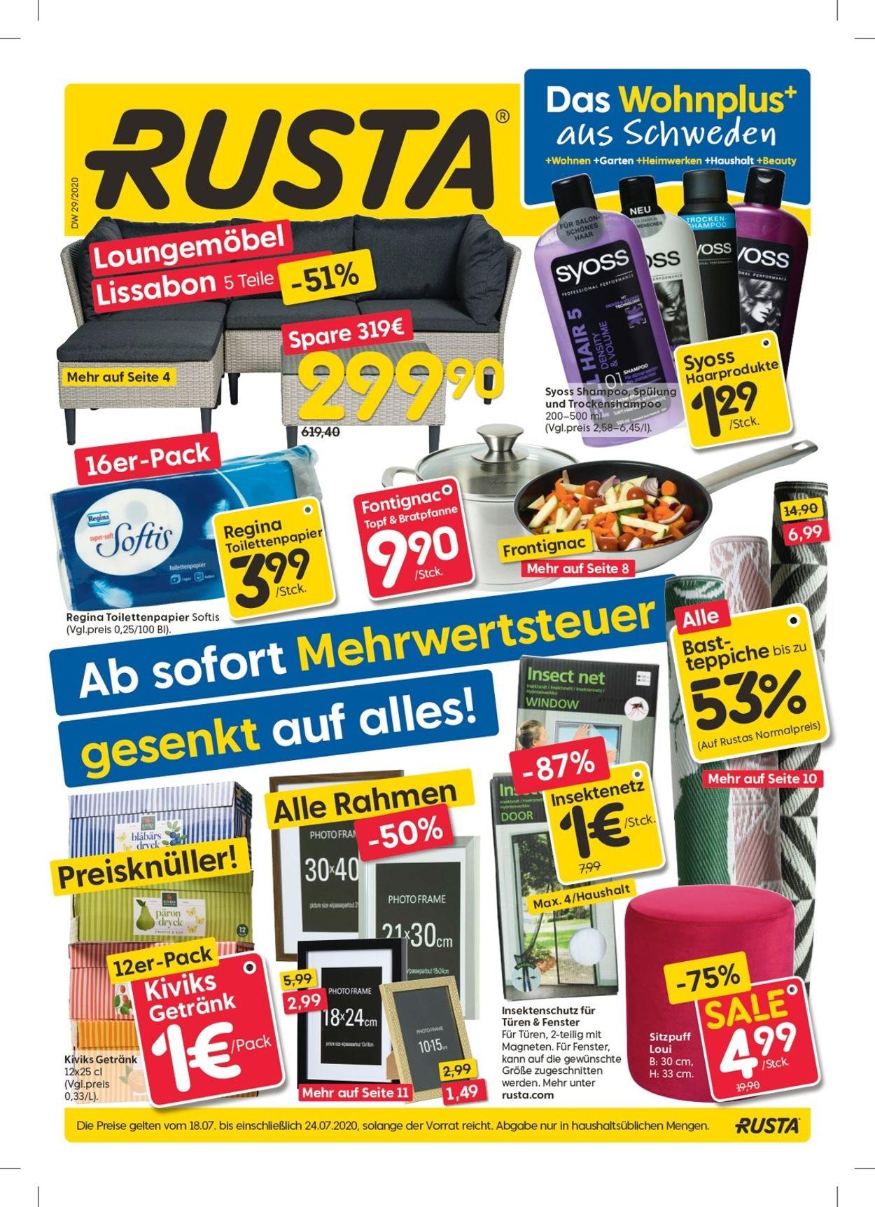 Rusta Prospekt - Aktuell vom 18.07-24.07.2020