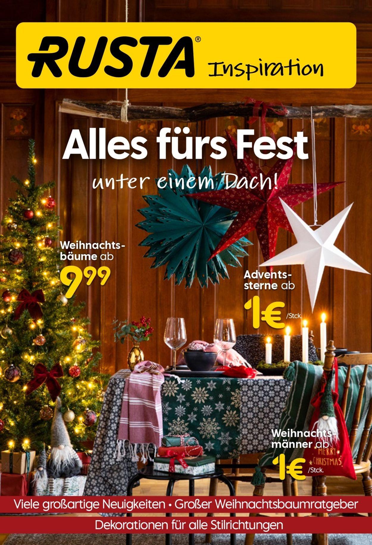 Rusta - Weihnachtsprospekt 2020 Prospekt - Aktuell vom 07.11-20.11.2020