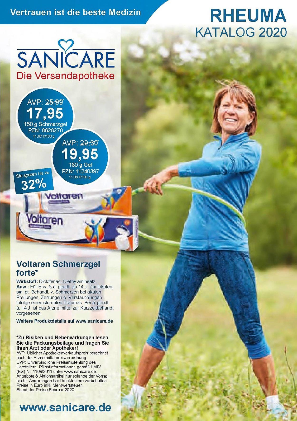 Sanicare Prospekt - Aktuell vom 16.03-31.08.2020