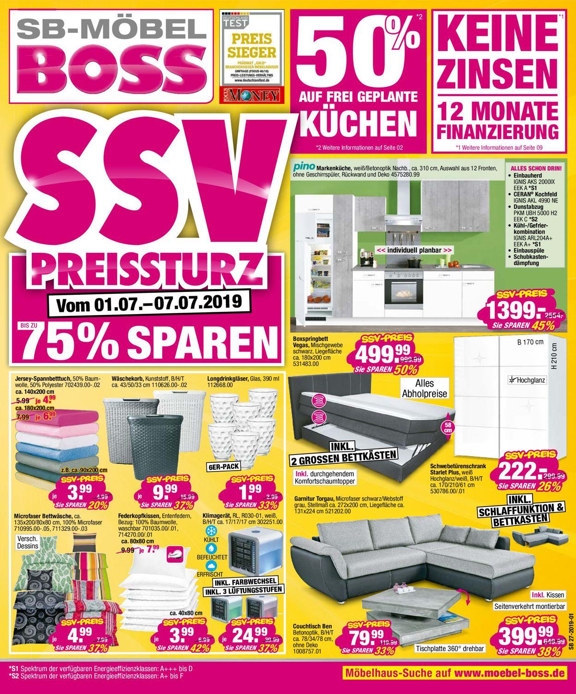 SB Möbel Boss Prospekt - Aktuell vom 01.07-07.07.2019