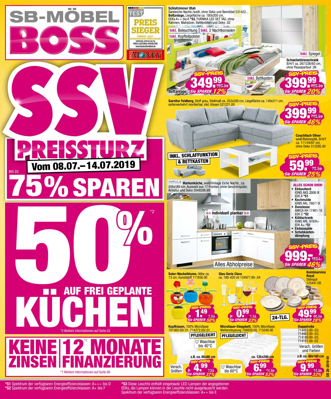 SB Möbel Boss Prospekt - Aktuell vom 08.07-14.07.2019