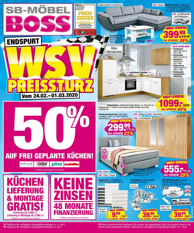 SB Möbel Boss Prospekt - Aktuell vom 17.02-31.03.2020