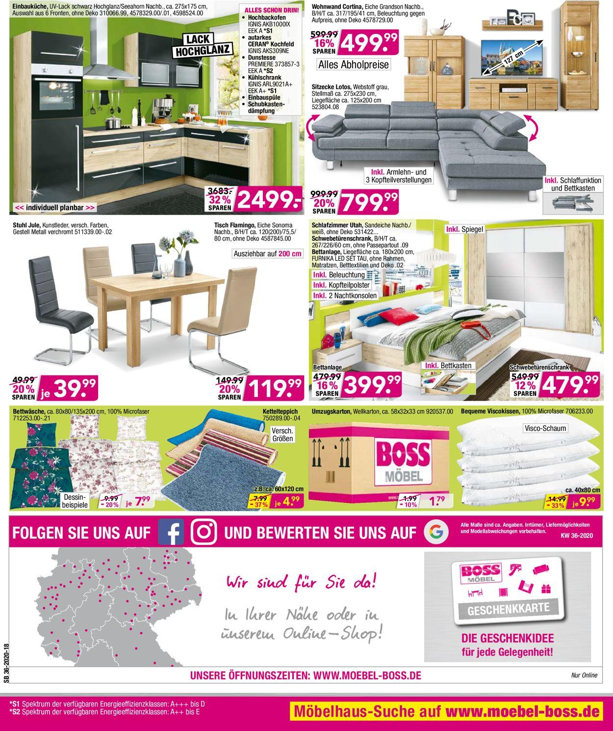 SB Möbel Boss Prospekt - Aktuell vom 31.08-06.09.2020 (Seite 10)