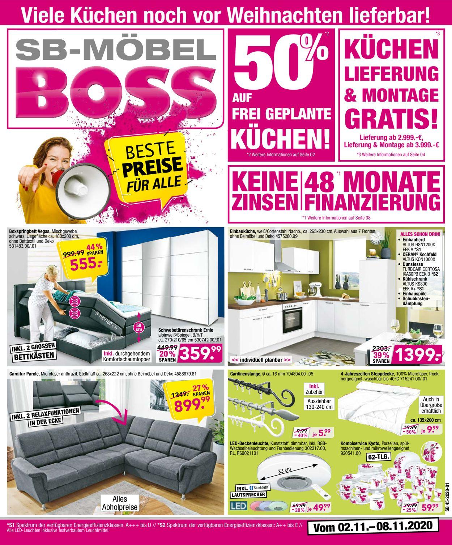 SB Möbel Boss Prospekt - Aktuell vom 02.11-08.11.2020