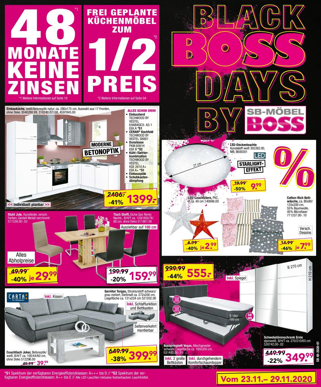 SB Möbel Boss Black Friday 2020 Prospekt - Aktuell vom 23.11-29.11.2020