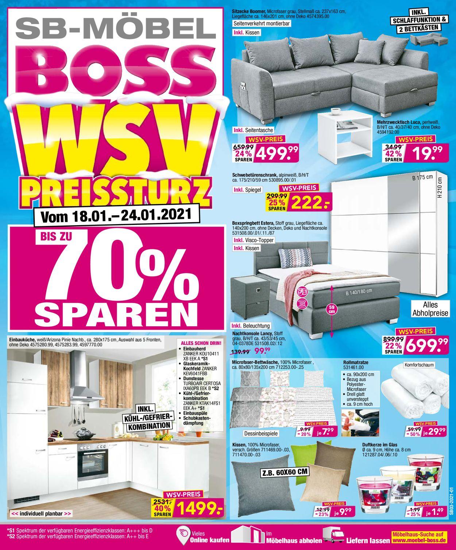 SB Möbel Boss Prospekt - Aktuell vom 18.01-24.01.2021