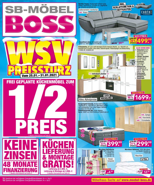 SB Möbel Boss Prospekt - Aktuell vom 25.01-31.01.2021