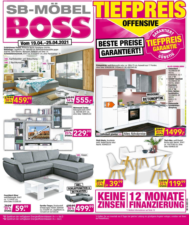 SB Möbel Boss Prospekt - Aktuell vom 19.05-25.05.2021