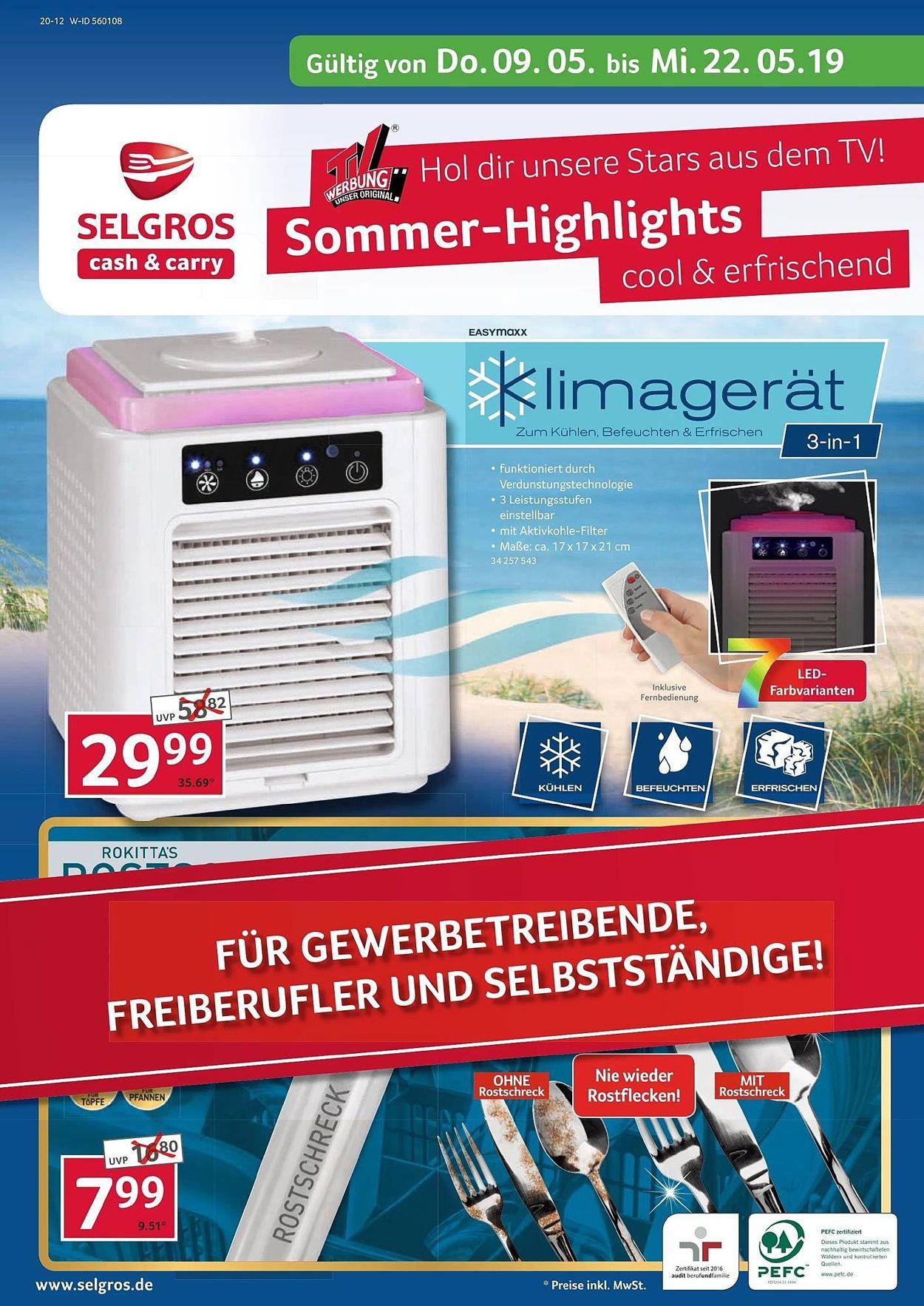 Selgros Prospekt - Aktuell vom 09.05-22.05.2019