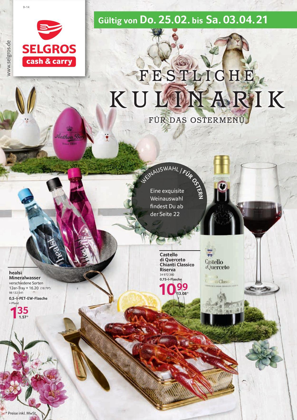 Selgros Ostern 2021 Prospekt - Aktuell vom 25.02-03.04.2021