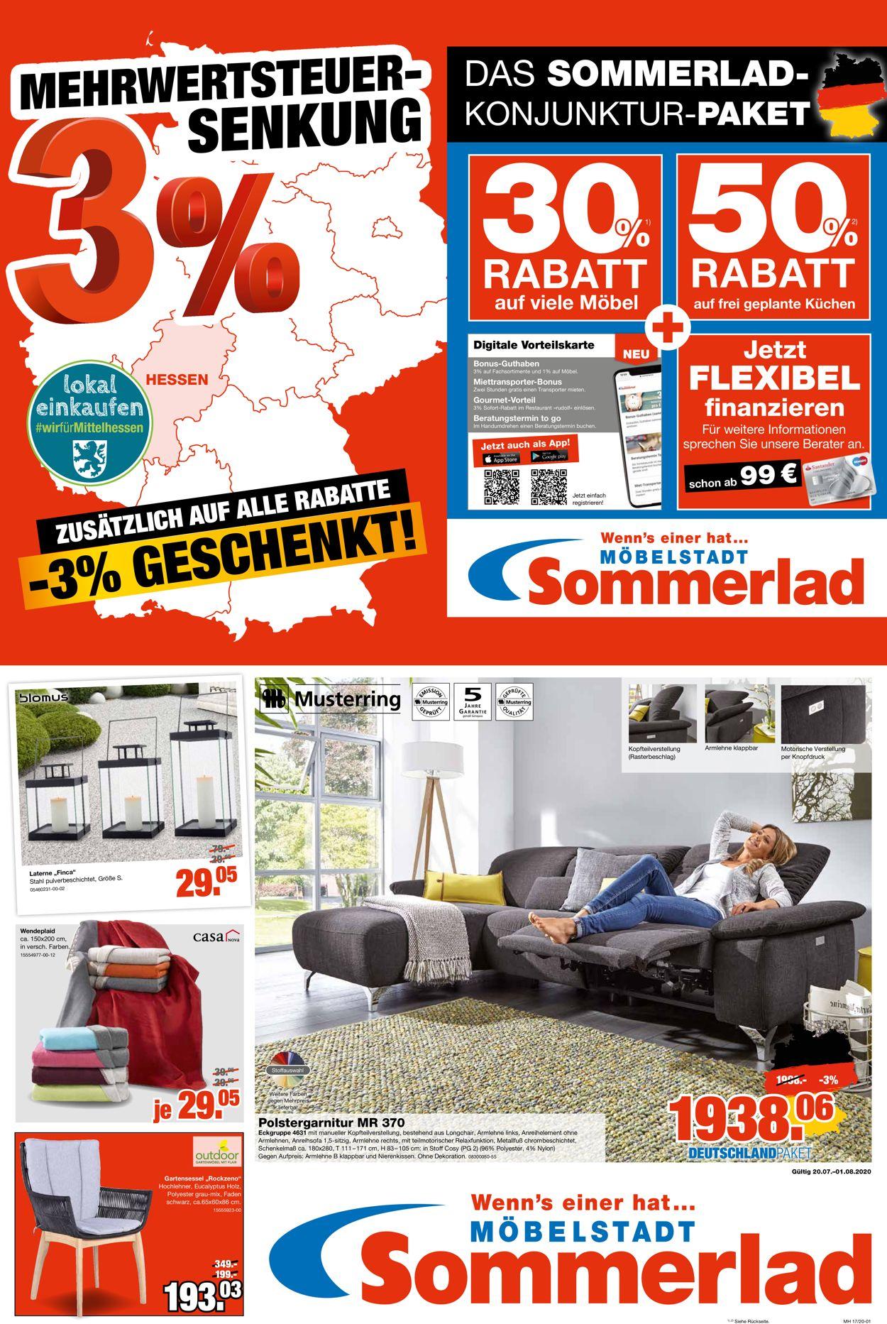 Sommerlad Prospekt - Aktuell vom 20.07-01.08.2020