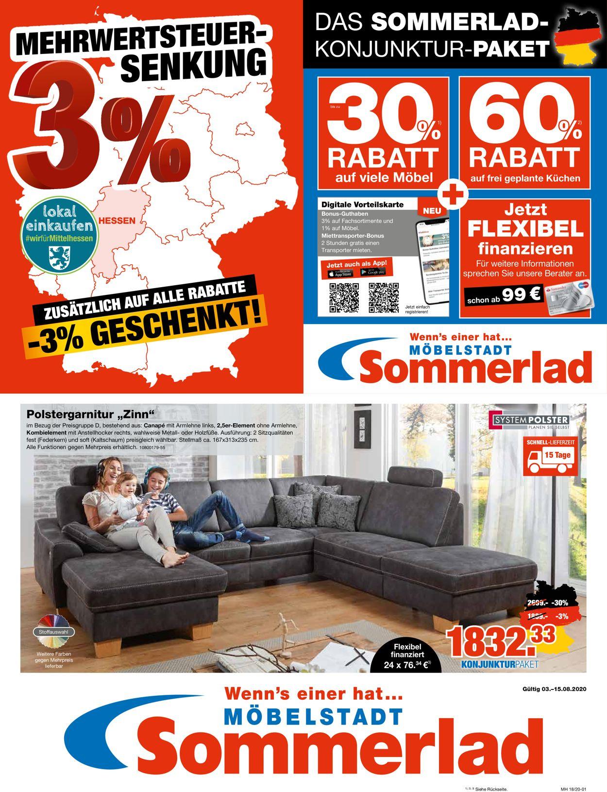 Sommerlad Prospekt - Aktuell vom 03.08-15.08.2020