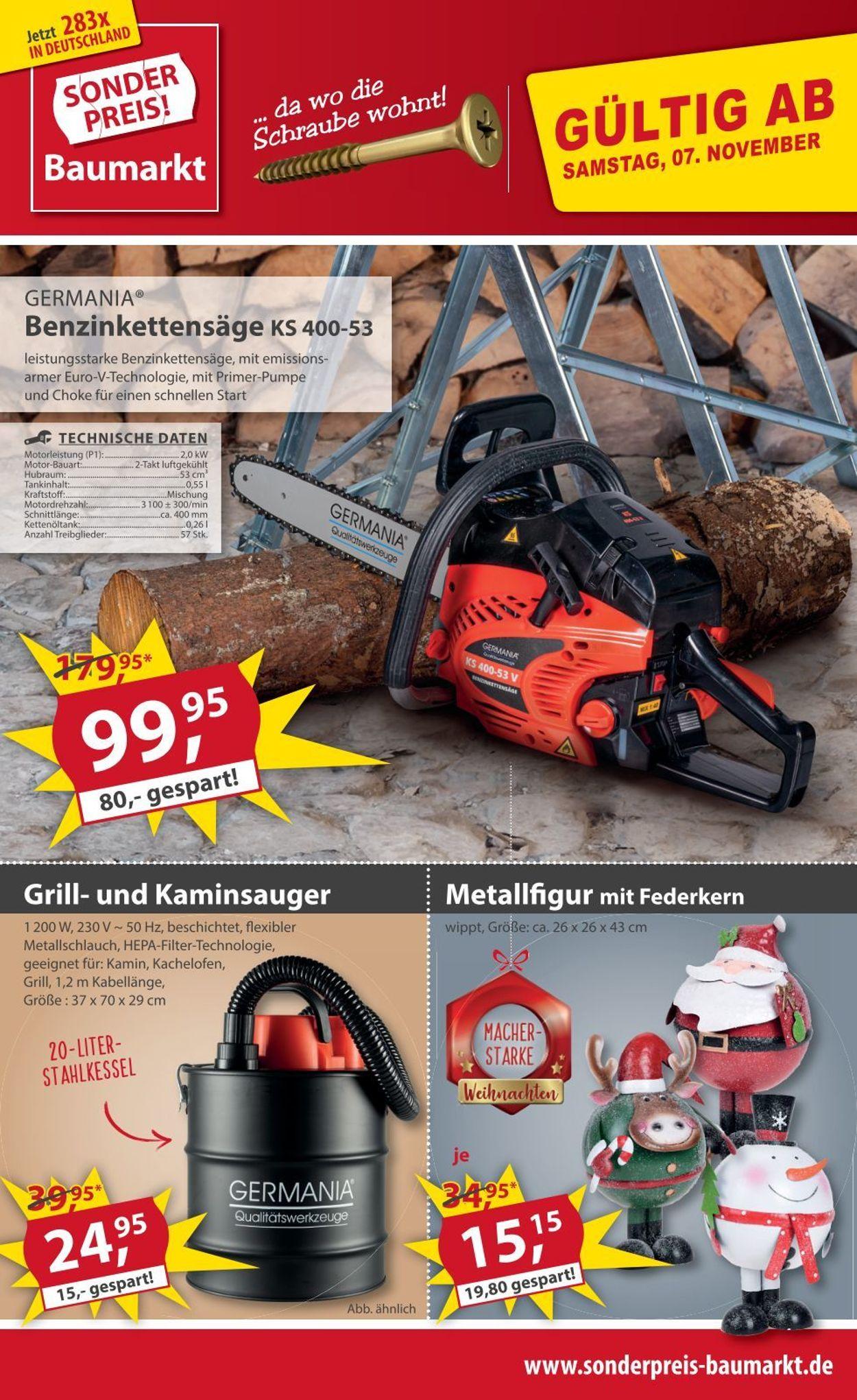 Sonderpreis Baumarkt Prospekt - Aktuell vom 07.11-13.11.2020