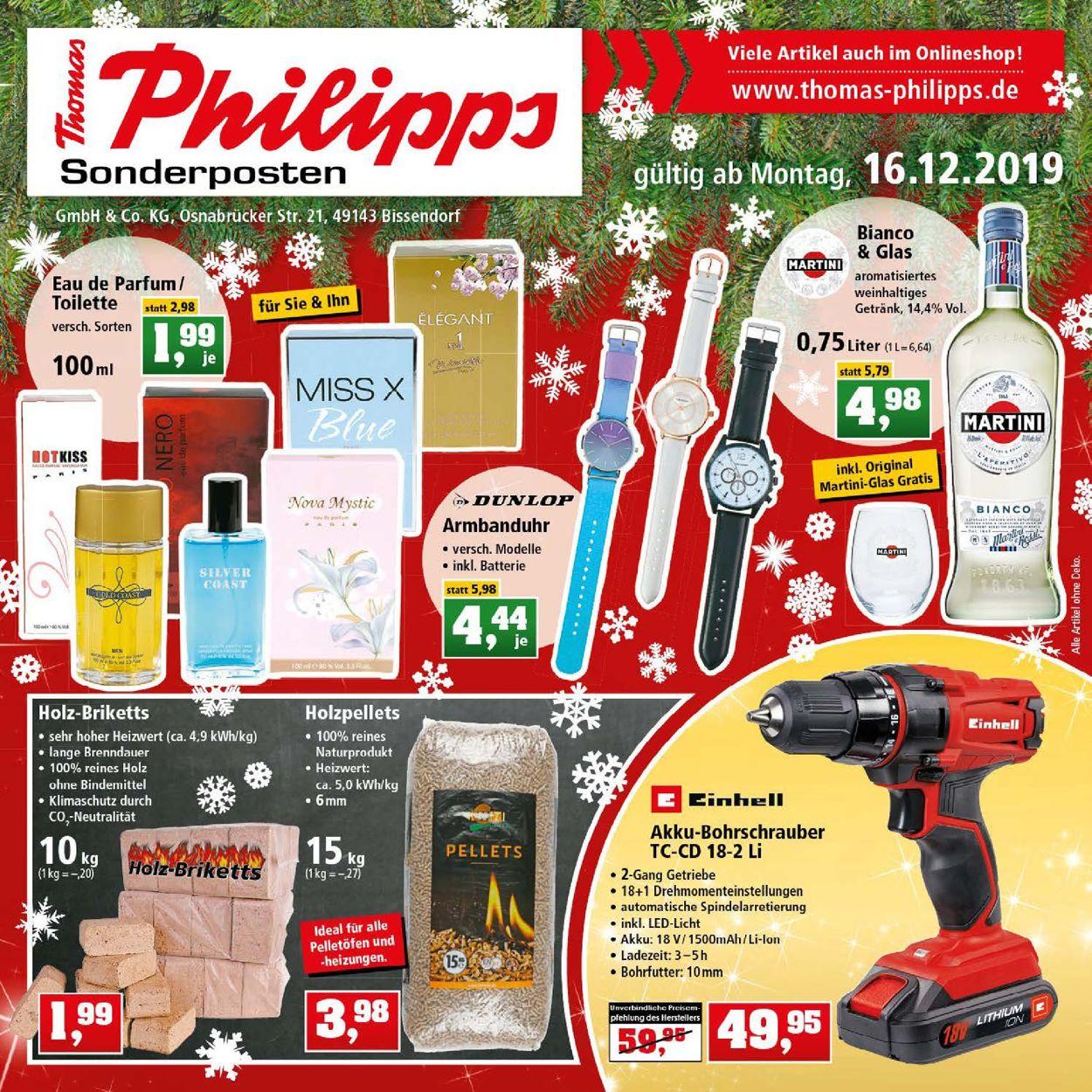 Thomas Philipps - Weihnachtsprospekt 2019 Prospekt - Aktuell vom 16.12-21.12.2019
