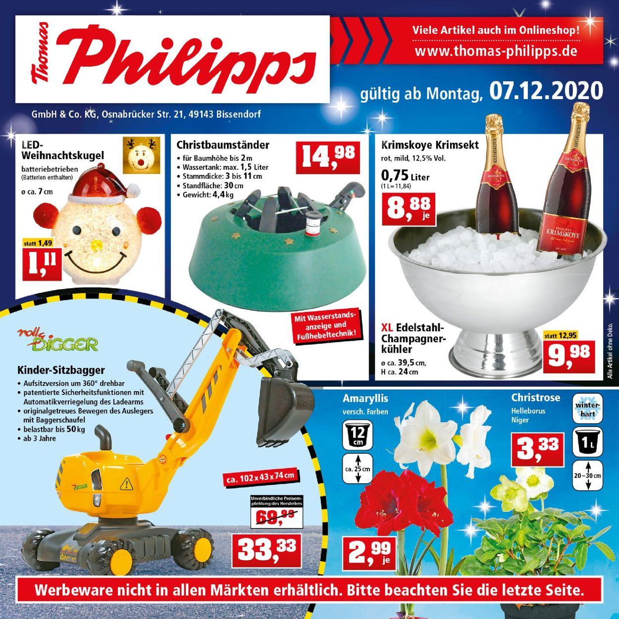 Thomas Philipps Weihnachtsprospekt 2020 Prospekt - Aktuell vom 07.12-12.12.2020