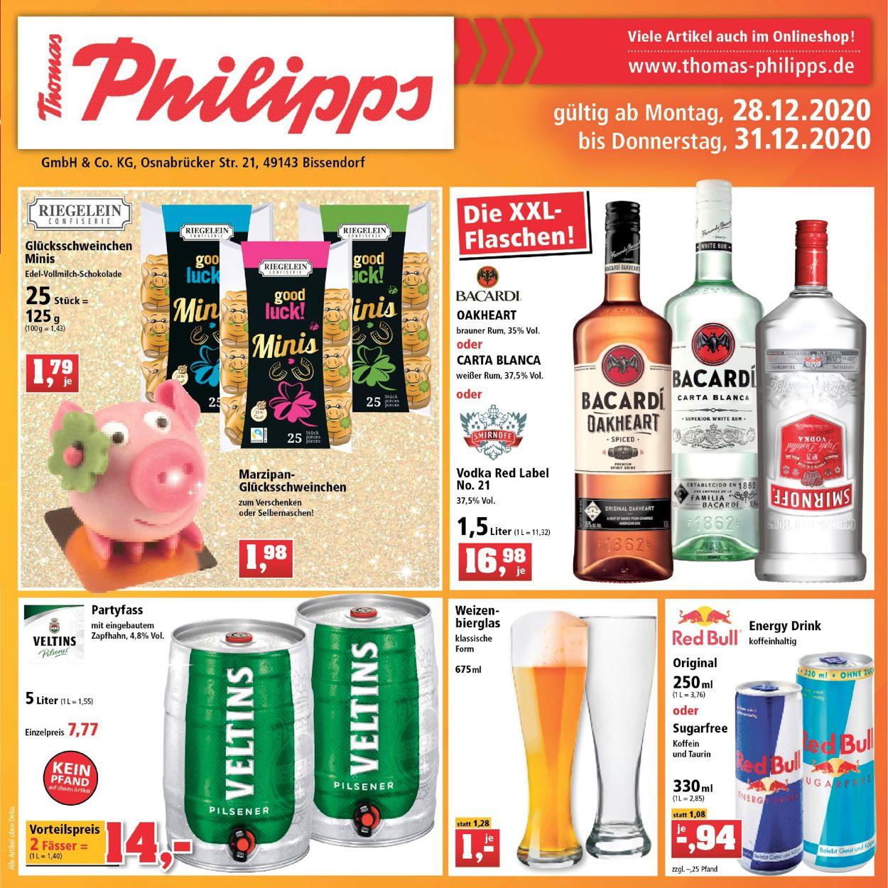 Thomas Philipps Prospekt - Aktuell vom 28.12-31.12.2020