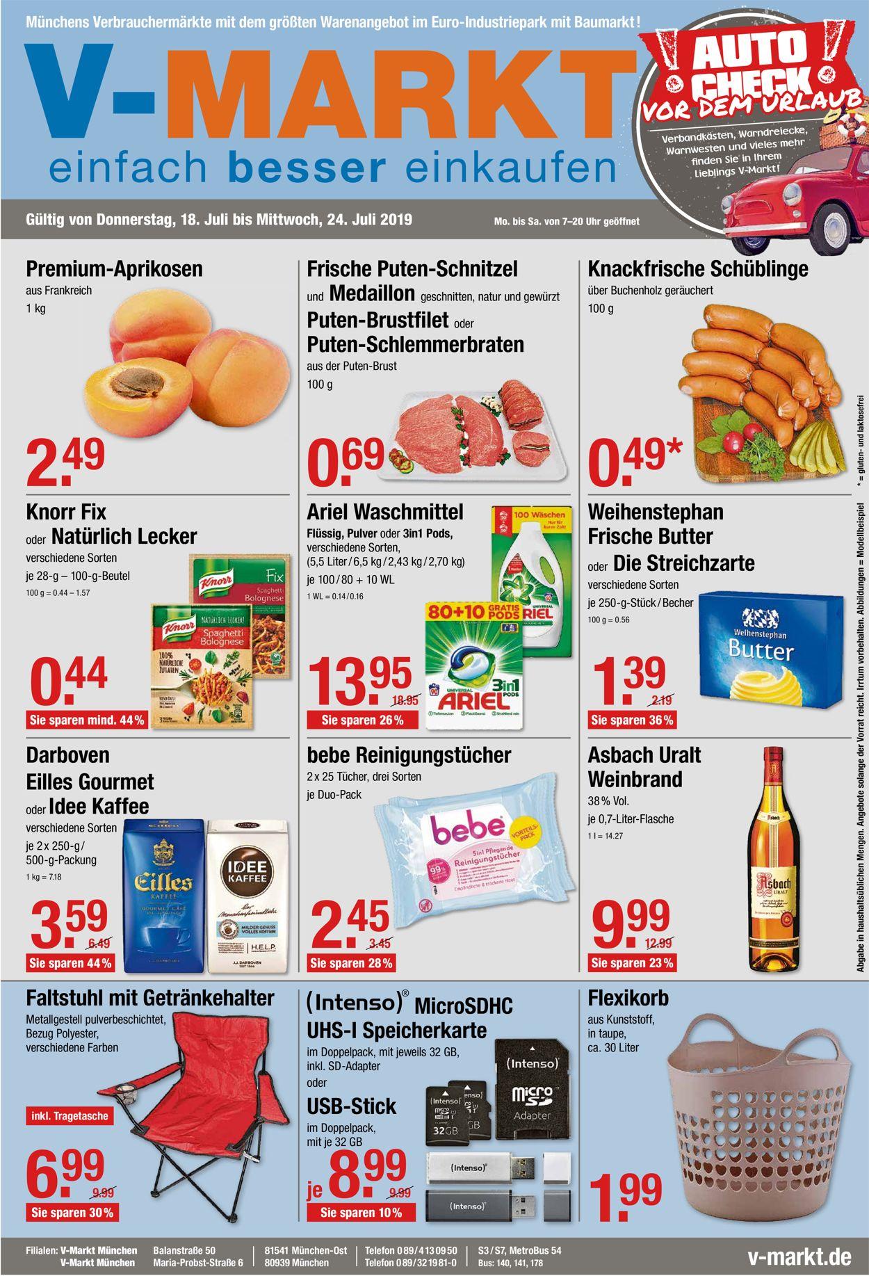 V-Markt Prospekt - Aktuell vom 18.07-24.07.2019