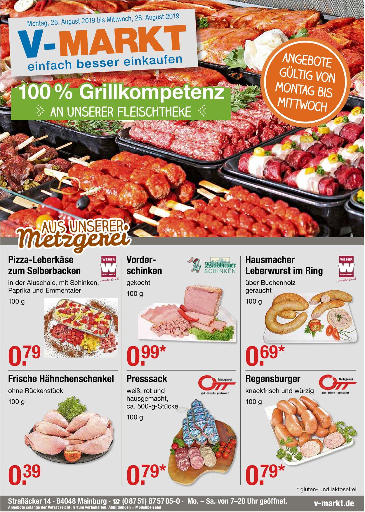 V-Markt Prospekt - Aktuell vom 26.08-28.08.2019