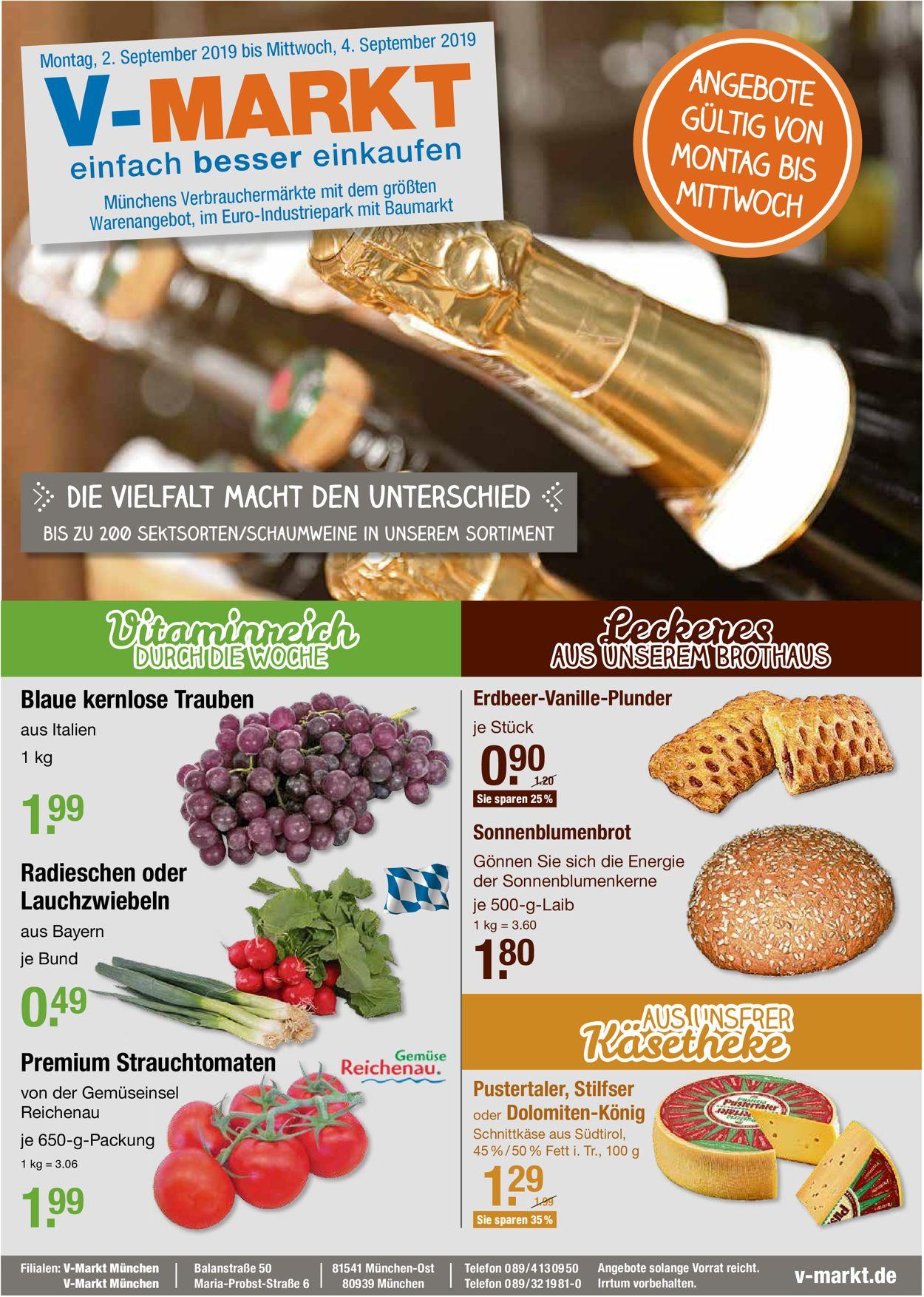 V-Markt Prospekt - Aktuell vom 02.09-04.09.2019