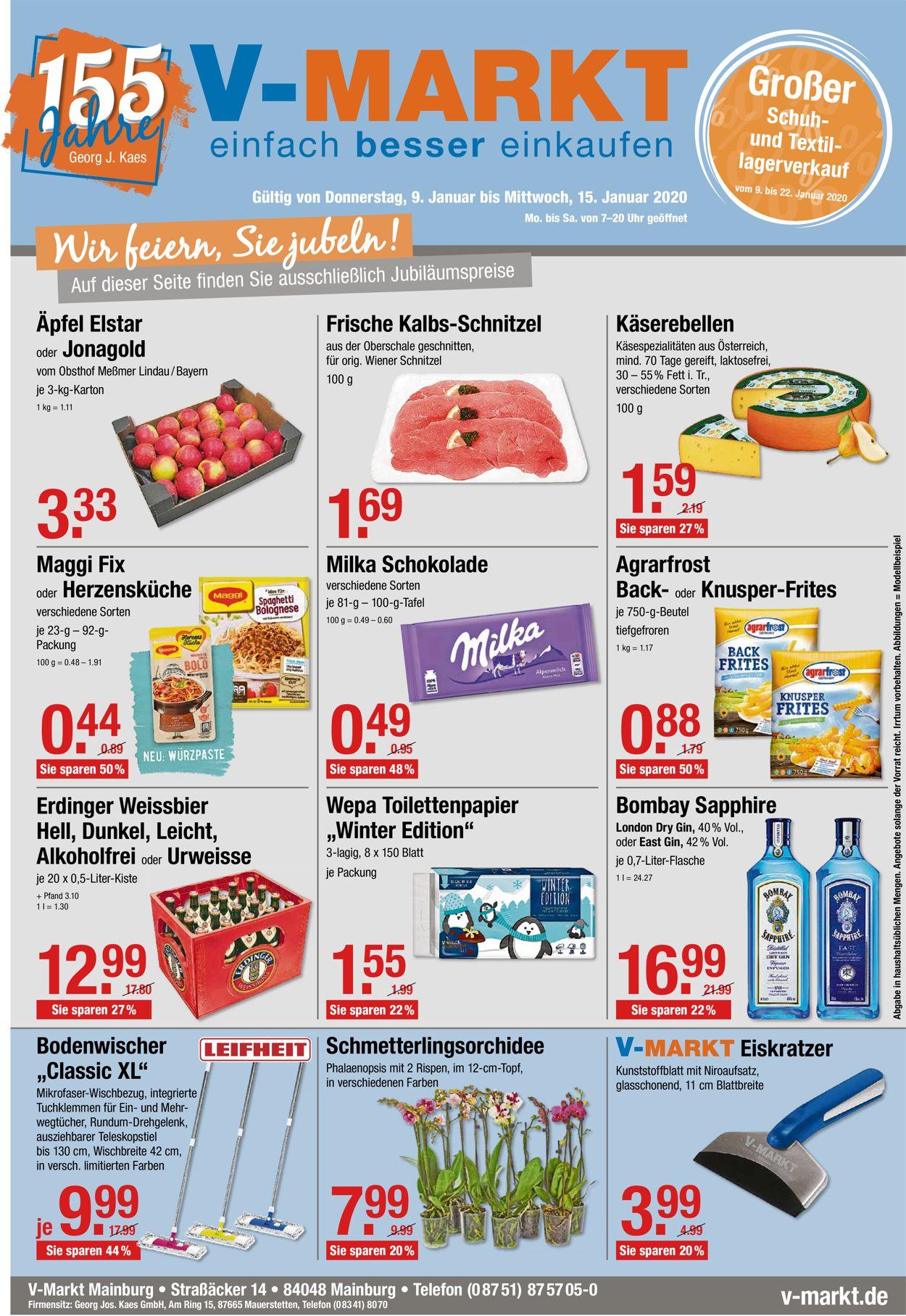 V-Markt Prospekt - Aktuell vom 09.01-15.01.2020